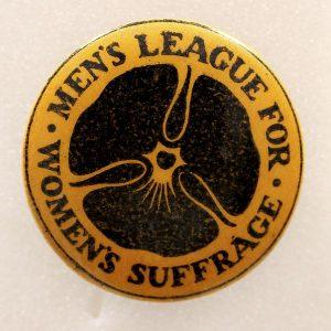 Men's league for women's suffrage badge